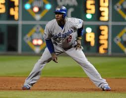 Here's Hanley Ramirez of the Dodgers in his ready position. (As recommended by my husband)